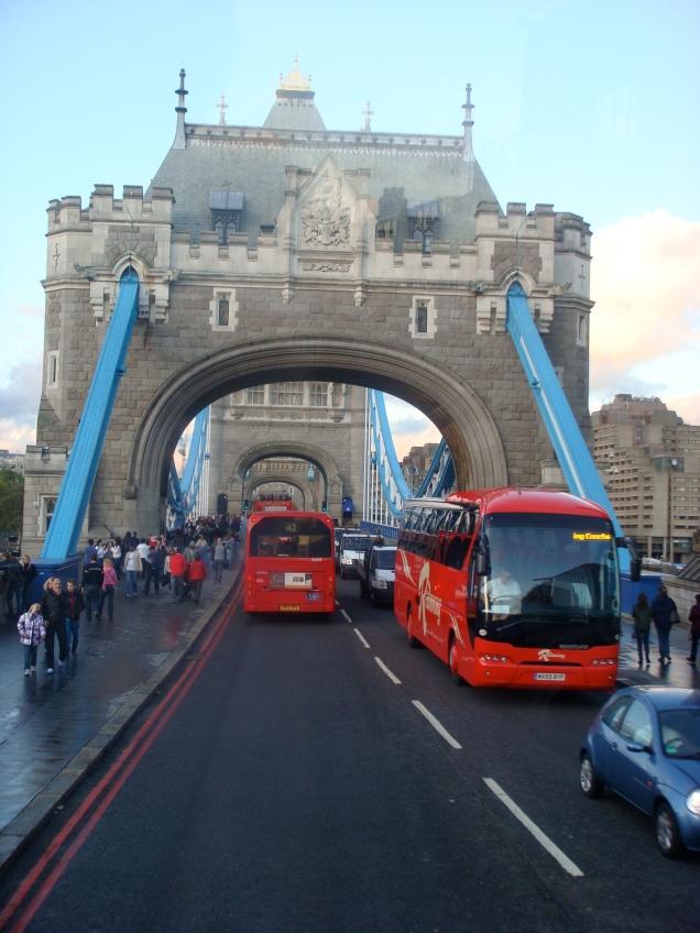 Em Londres, no The Original Tour sightseeing bus