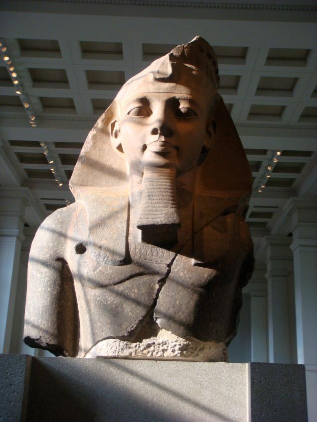 Ele fez questão de fotografar o faraó Ramsés II