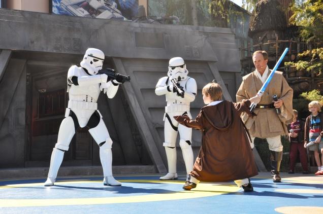 Os soldados imperiais não são páreo para o poder da Força