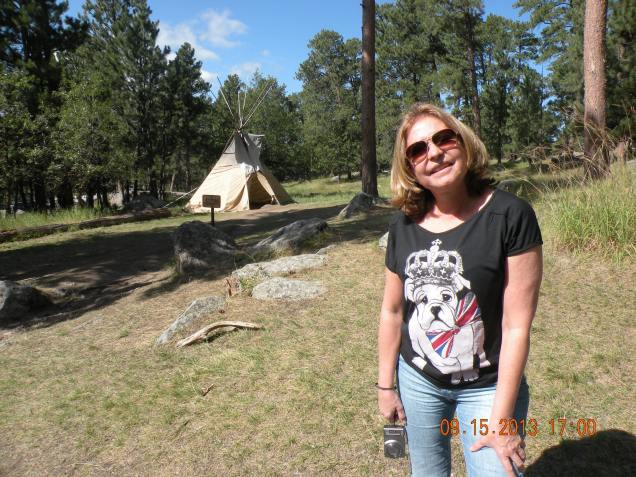 Edith e a tenda indígena