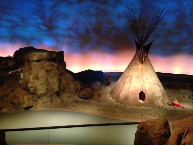 Acampamento indígena, da tribo Arapaho