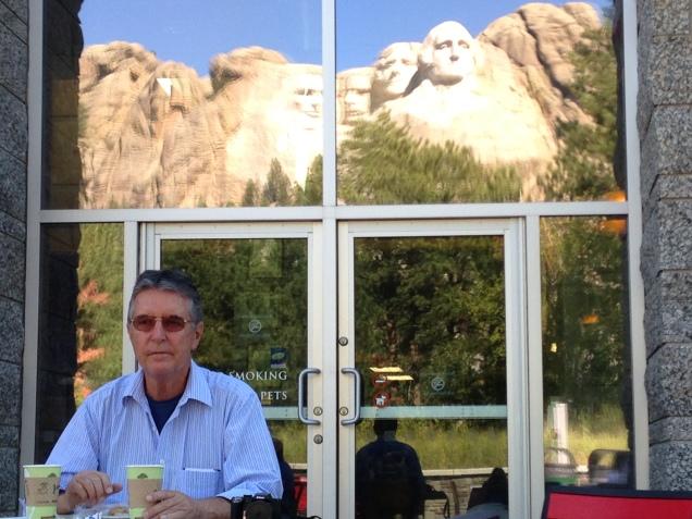Lanche com os presidentes, no Mount Rushmore