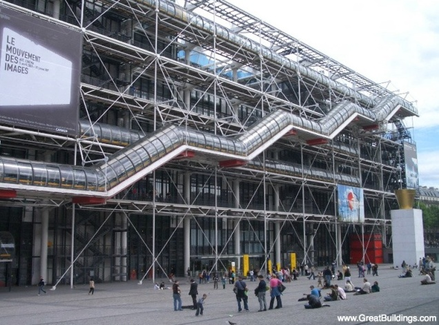 Centro George Pompidou Fonte: site Great Buildings