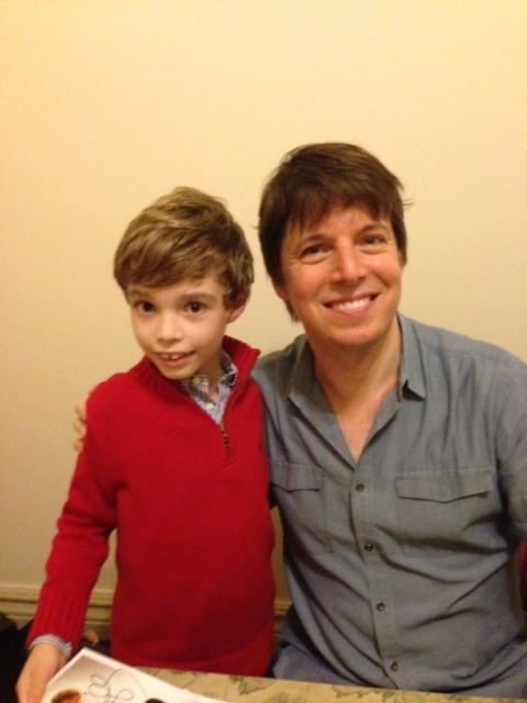 Depois do concerto, o troféu: autógrafo e foto com o grande ídolo Joshua Bell