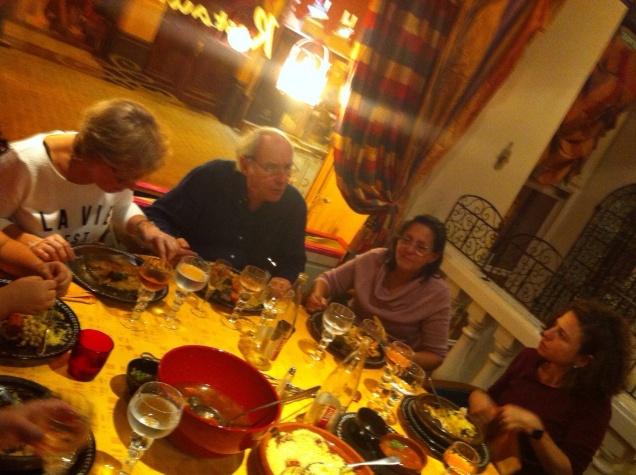 Jantar delicioso no La Mamounia