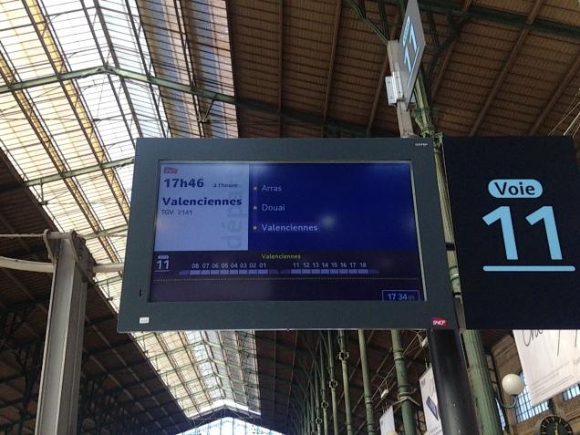 TGV para Arras, prontos para o embarque!