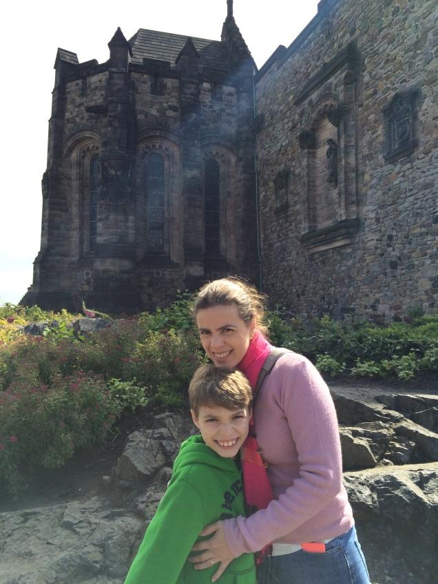 De dentro do castelo, só um gostinho das atrações de Edimburgo... Depois conto tudo em detalhes!