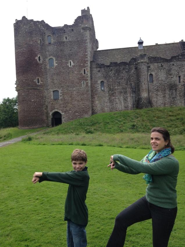 Brincando de Monty Phyton no Doune Castle