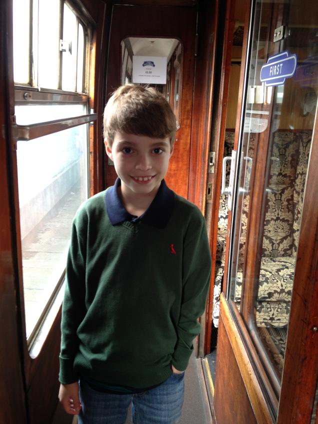 A entrada da nossa cabine dentro do trem, igualzinho ao filme!